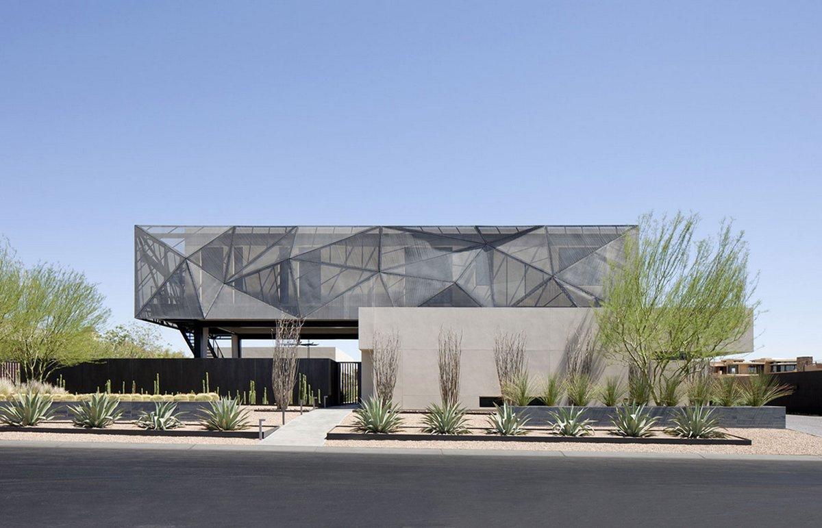assemblageSTUDIO, особняк в Лас-Вегасе, американские особняки фото, схема большого частного дома, панорамный бассейн в частном доме