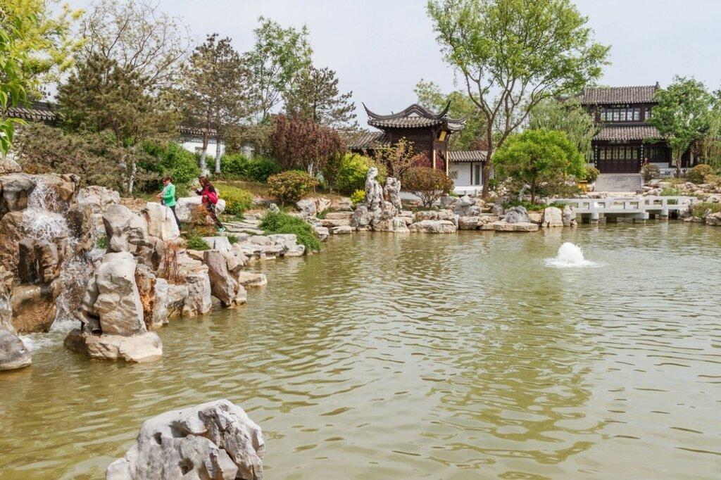 Панорама сада Цзянсу, Парк-выставка садов, Пекин