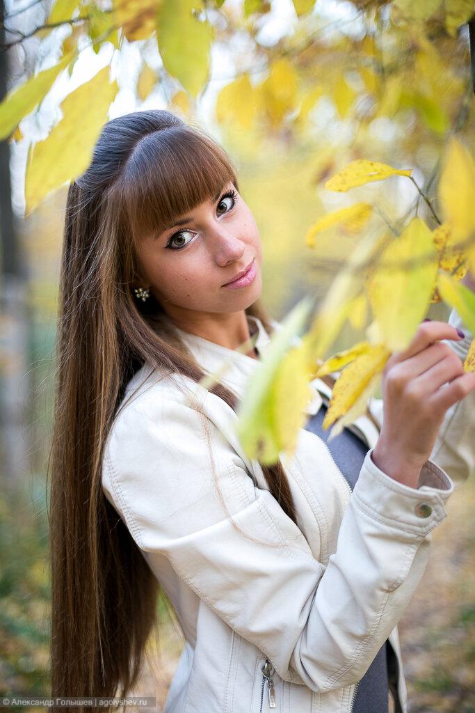 Осенний портрет девушки