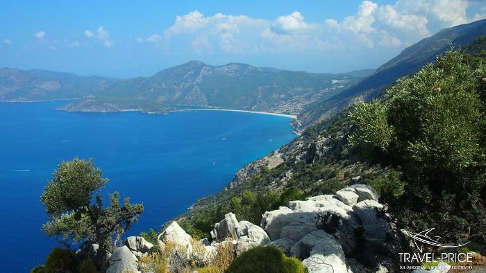 пляж Олюдениз с горы