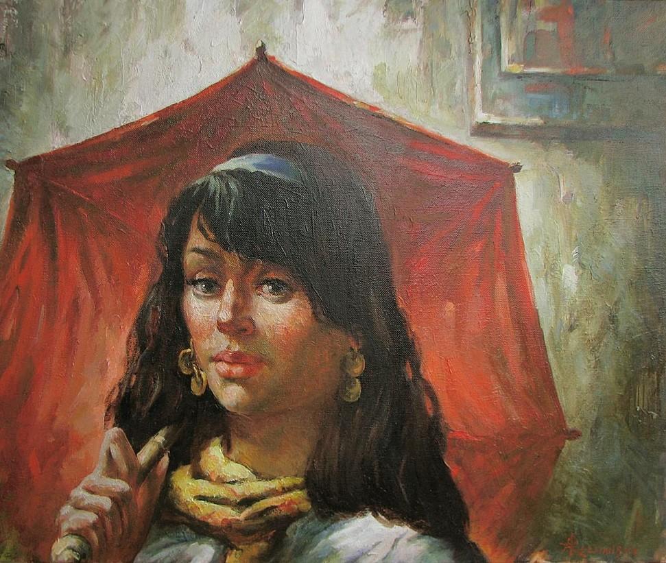 Рожанский Анатолий, Под красным зонтом, 2007