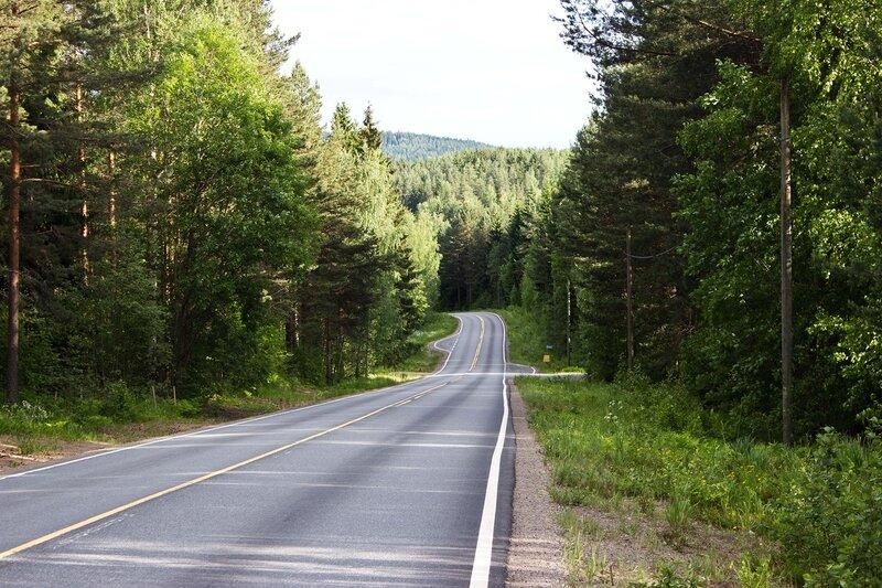 дорога 610 вдоль озера Пайянне (Paijanne)