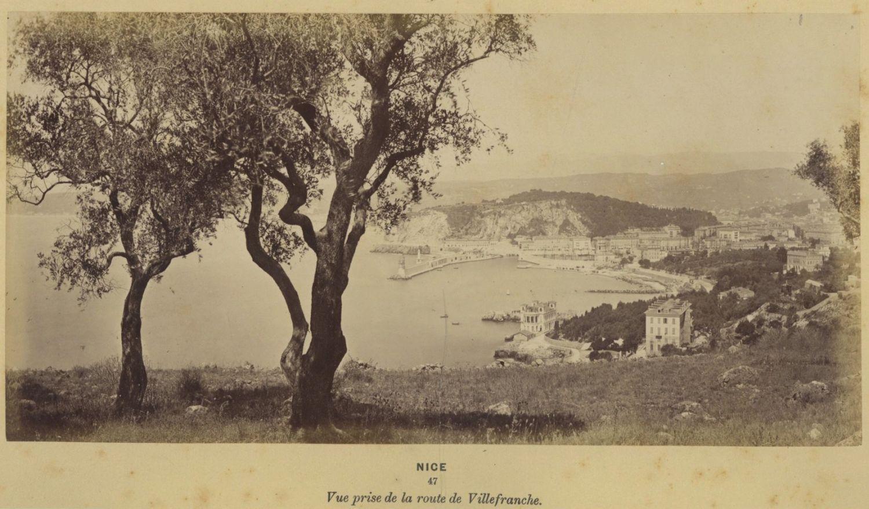 1880. Вид города с дороги на Вильфранш