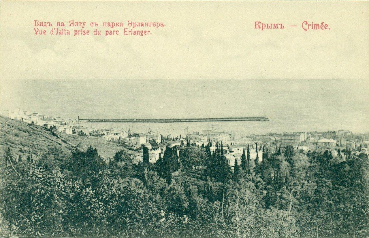 Вид на Ялту с парка Эрлангера