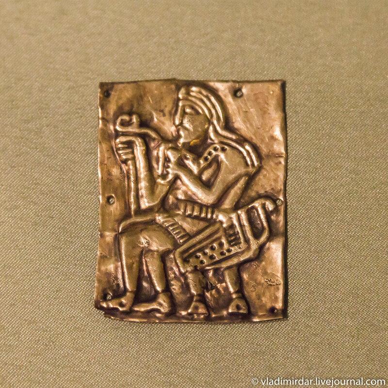 Золотые антропоморфные накладки-пластины церемониального пояса