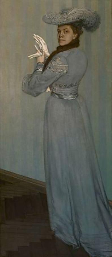 Портрет в сером наряде, Оскар Цвинчер (1870-1916).