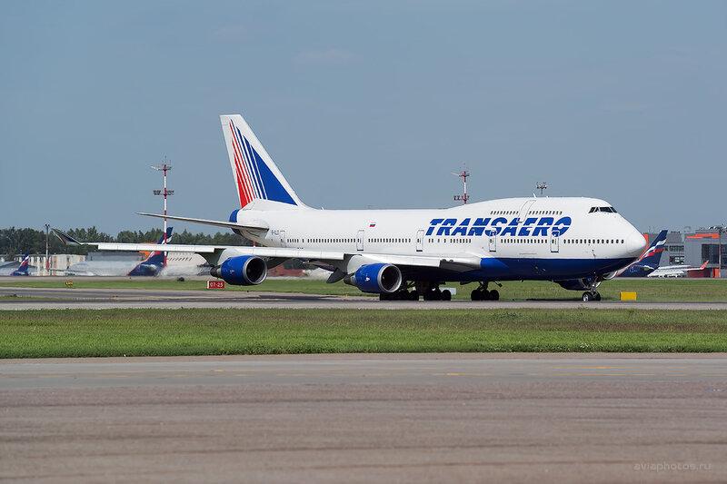 Boeing 747-446 (EI-XLD) Трансаэро D805929a