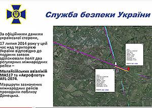Украина представила видеоверсию крушения малазийского Боинга