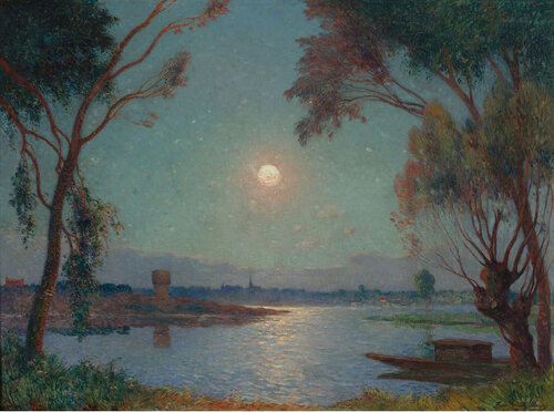 Ferdinand du Puigaudeau - The Bank of Loire under Clear Moon.jpeg