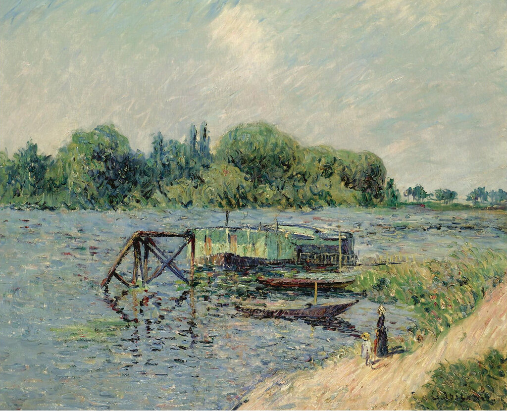 Gustave Loiseau - Laun Place on the Seine at Herblay, 1906.jpeg
