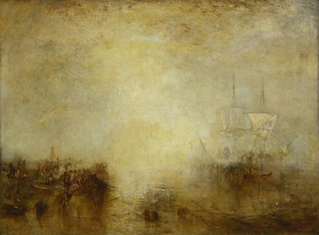 'Hurrah! for the Whaler Erebus! Another Fish!' exhibited 1846 by Joseph Mallord William Turner 1775-1851
