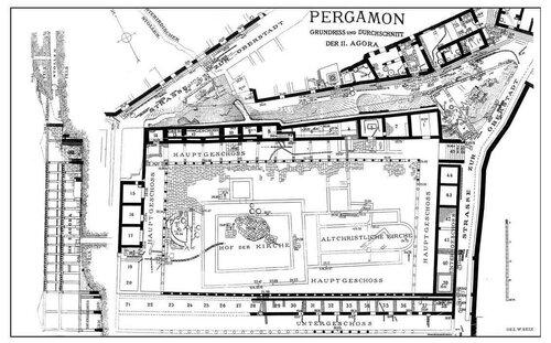 Генплан города Пергамона, агора