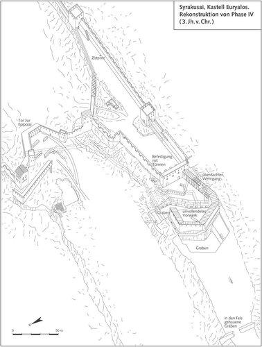 Сиракузы, замок Эвриала, генплан