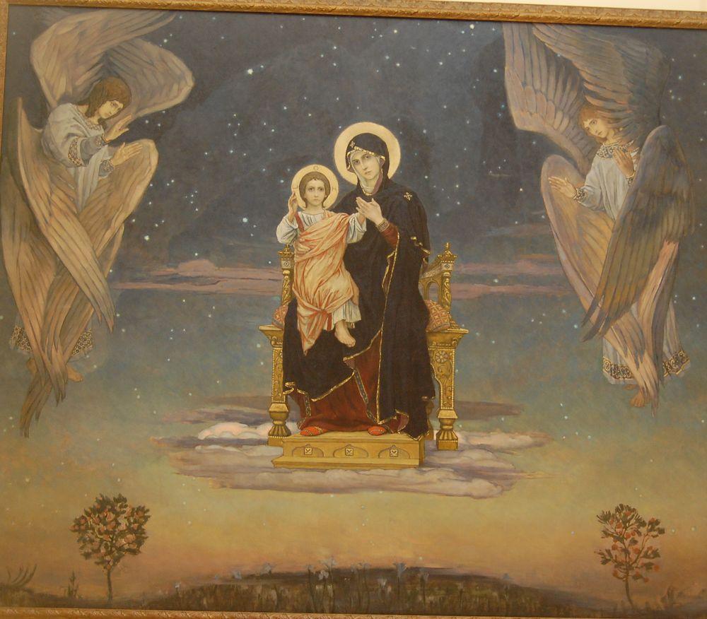 Богоматерь Одигитрия. Эскиз алтарной мозаики церкви Марии Магдалины в Дармштадте. 1899
