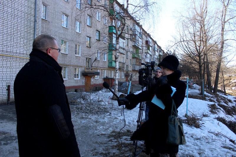 Интервью на Студенце о субботнике. 16 марта 2015 года