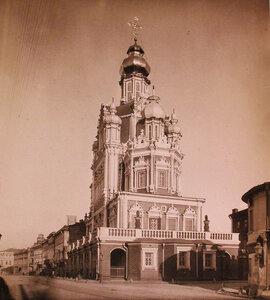 Вид на церковь Успения Пресвятой Богородицы на Покровской улице (построена в 1695-1706 гг). Москва г.