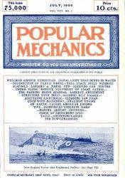 Журнал Popular mechanics №7 1906