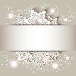 Christmas Star Snowflake Greeting Card