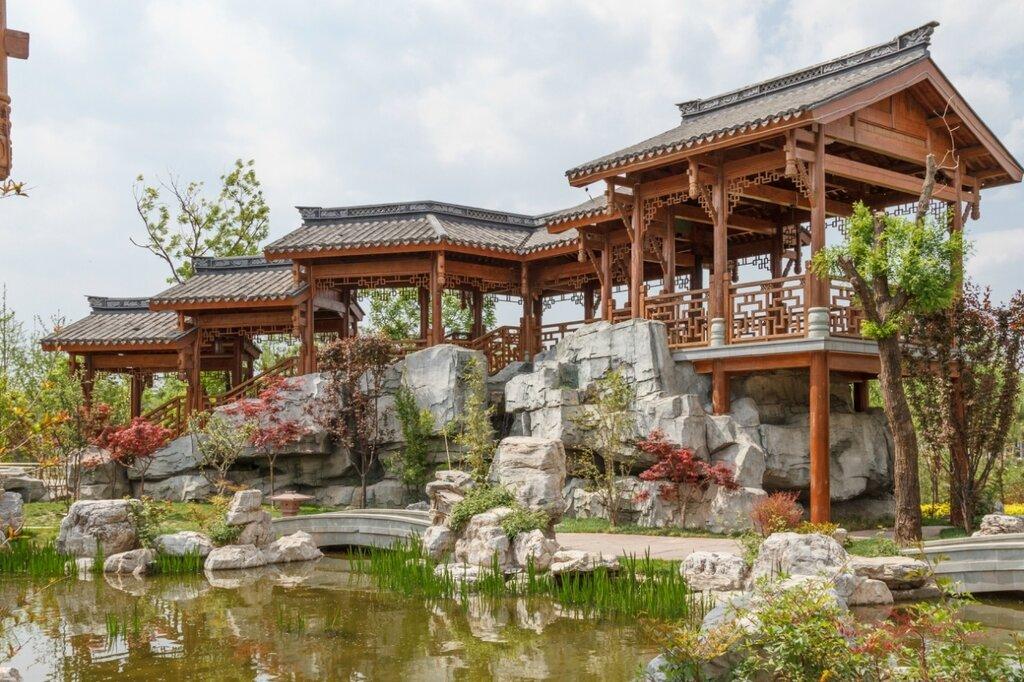 Галерея в саду Чунцин, Парк-выставка садов, Пекин