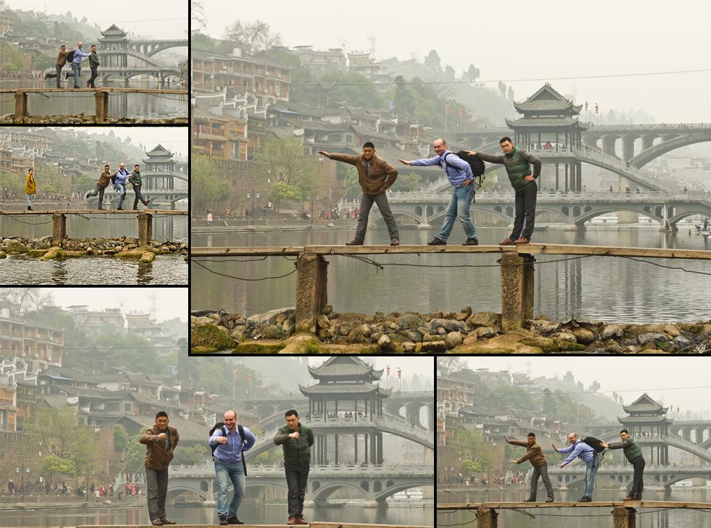 """11. Фотосессия """"чОтких пацанов"""". :) Наши приключения в Китае. Экскурсия по Фэнхуану."""