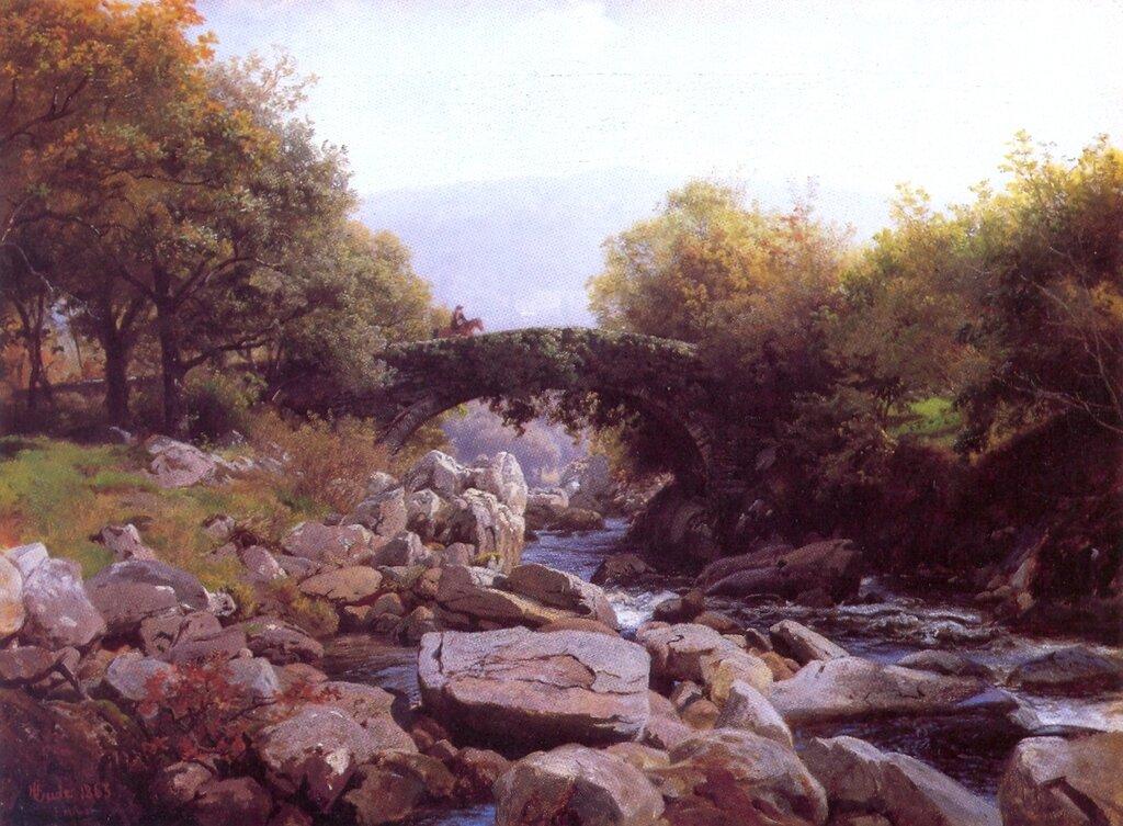 Hans Gude--Efoybroen, Nord-Wales--1863.jpg