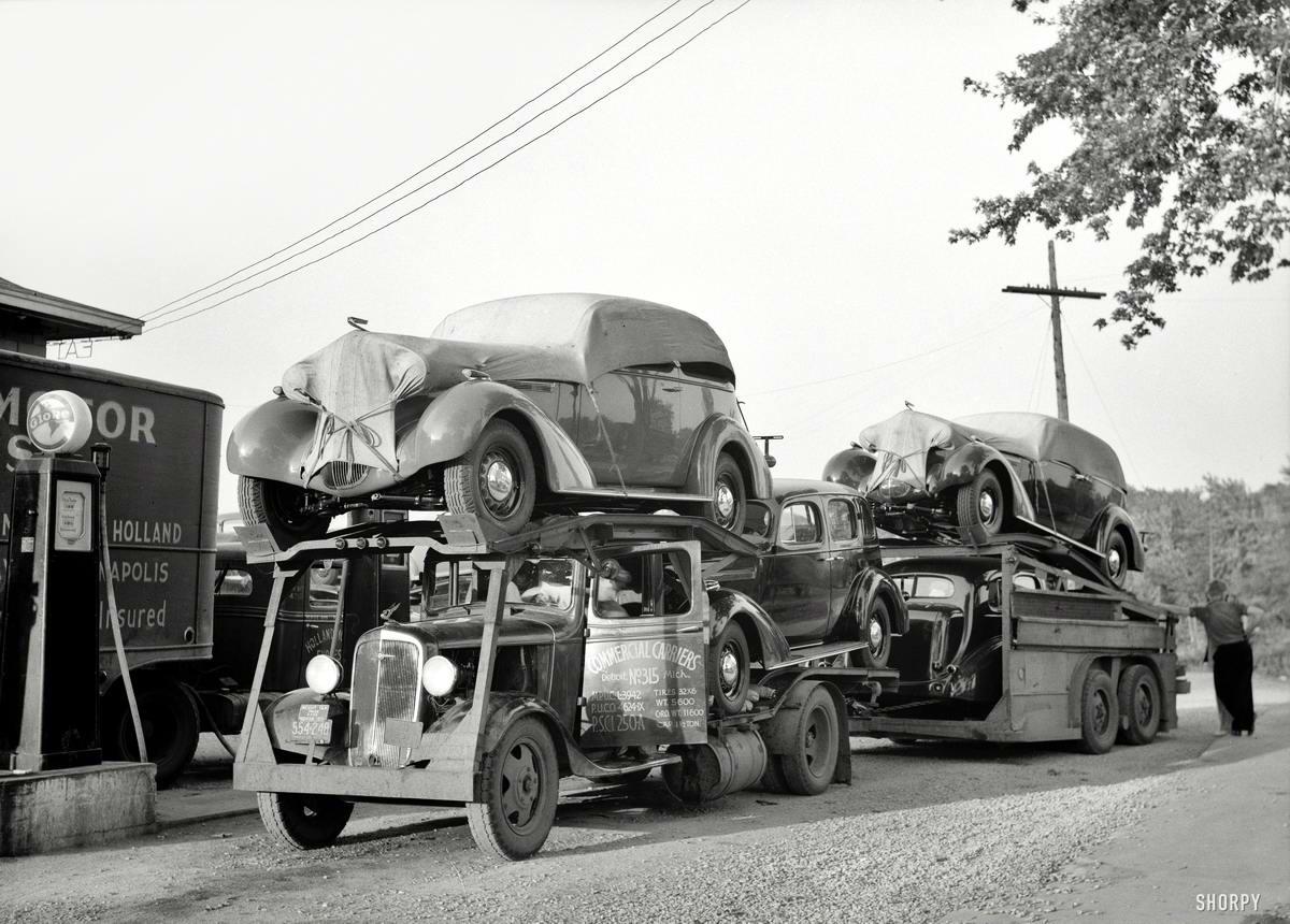 Специализированные транспортные средства начала 20-го века на снимках американских фотографов (62)