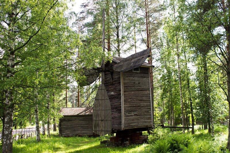 деревянная ветряная мельница в Ханкасалми (Hankasalmi)