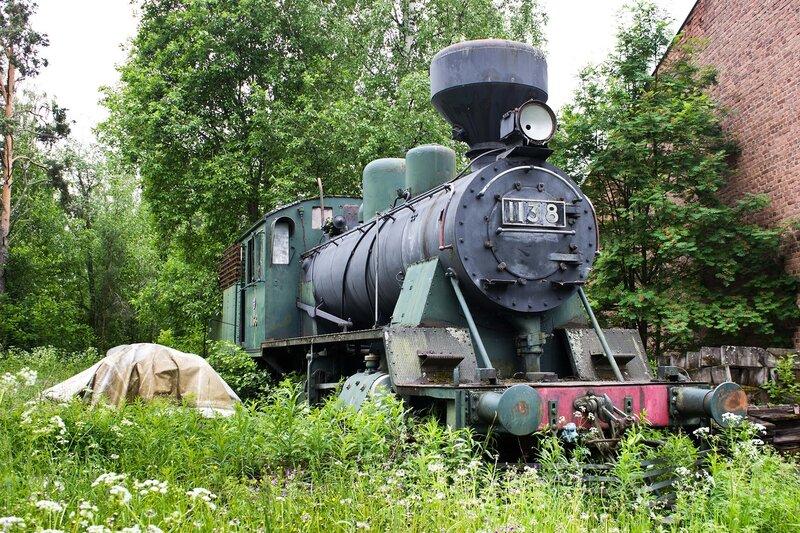 старинный паровоз на станции Суолахти (Suolahti)