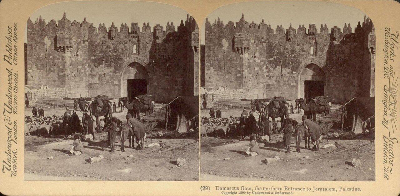 Иерусалим. Дамасские ворота. 1899