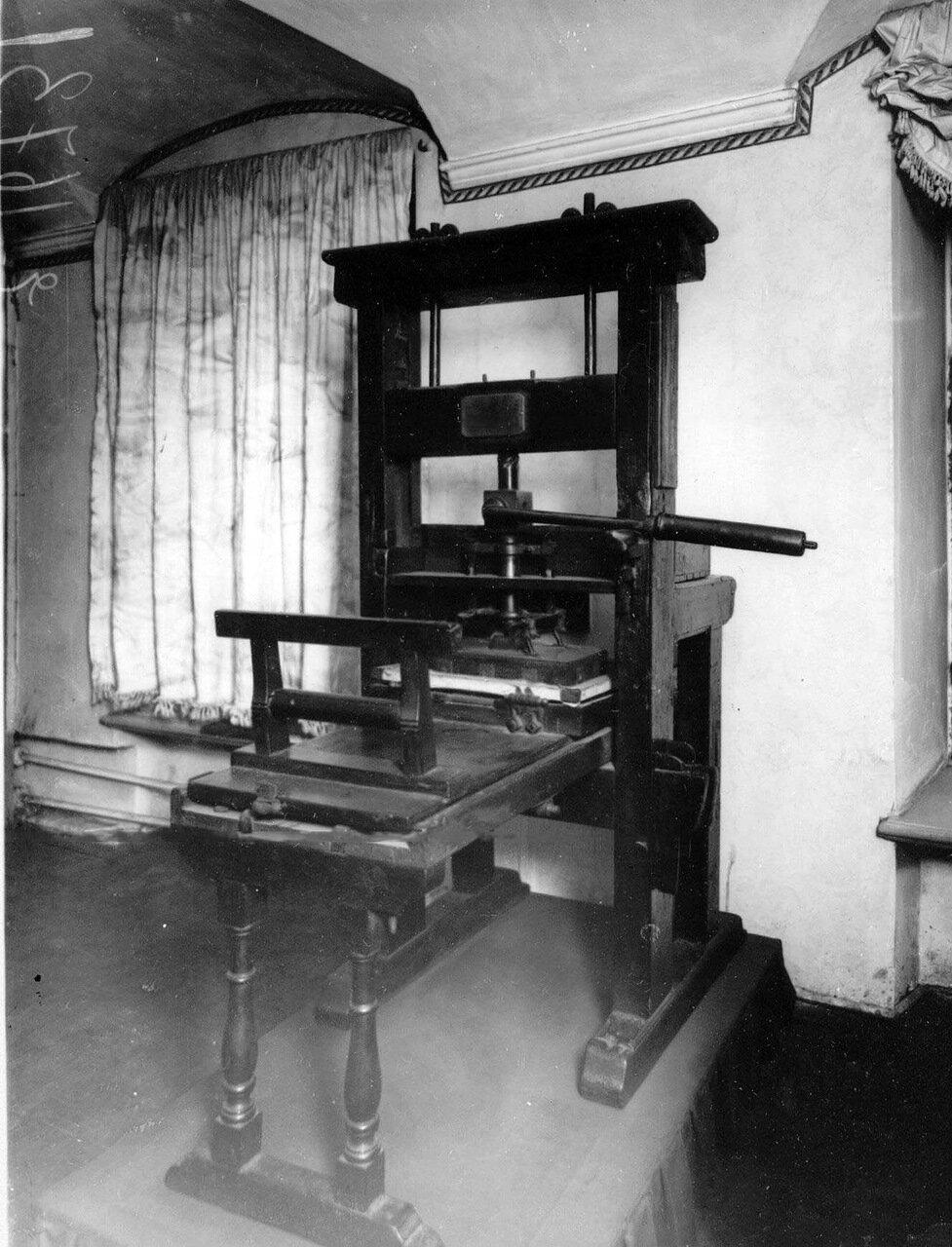 01. Печатный станок императора Петра I