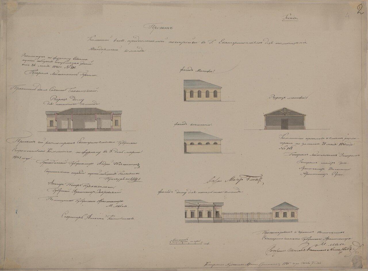 Проект постройки в Екатеринославе здания жандармерии