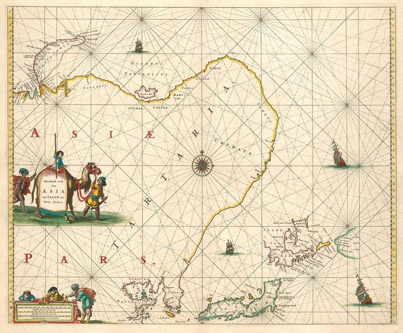 Noordoost cust van Asia van Japan tot Nova Zemla.Amsterdam, 1666.