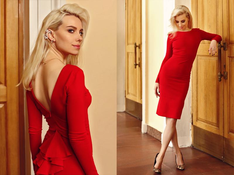 Красное платье и прогулка по городу #2.