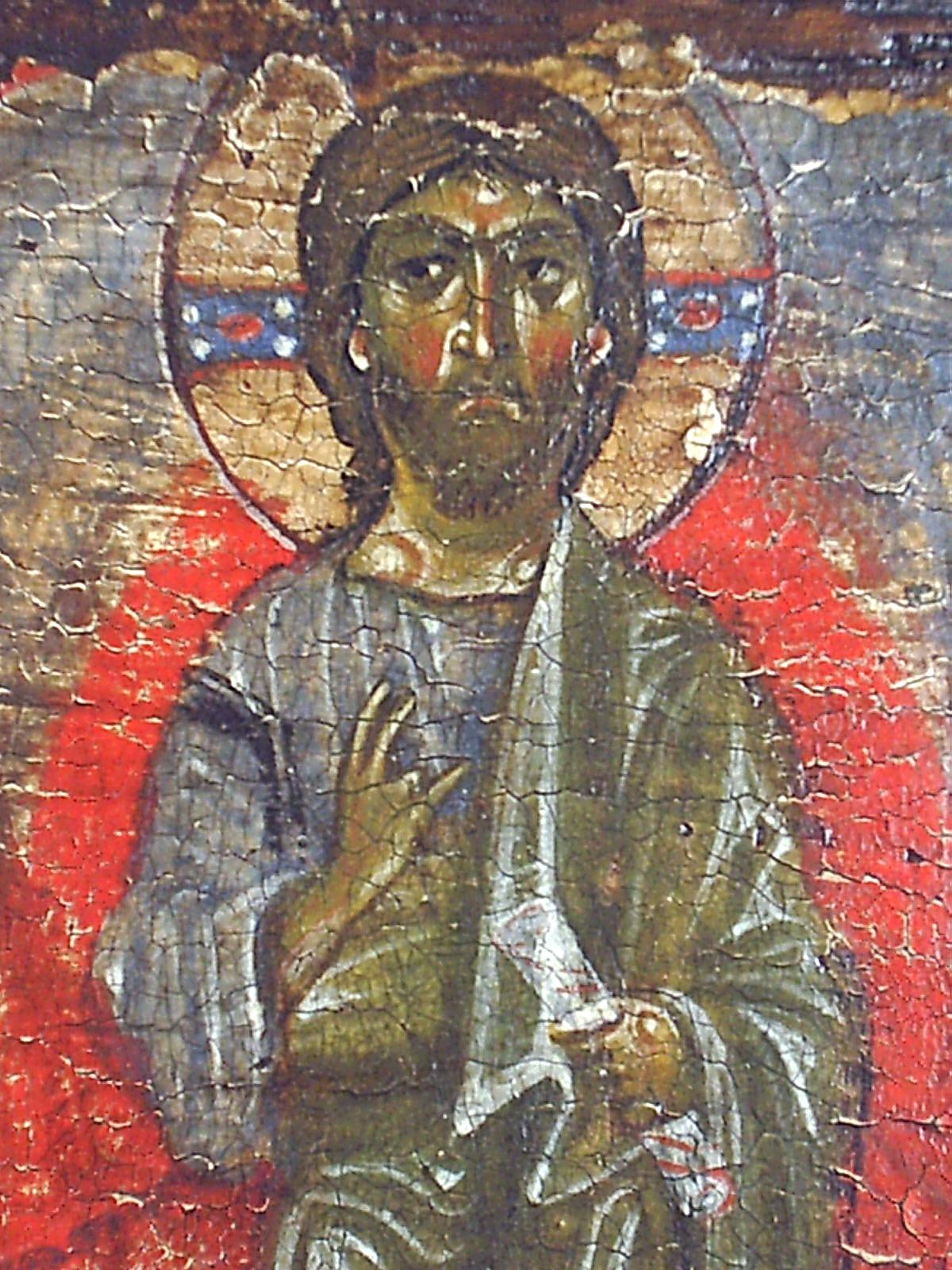 Преображение Господне. Икона. Византия, XII век. ГЭ. Фрагмент - Христос.