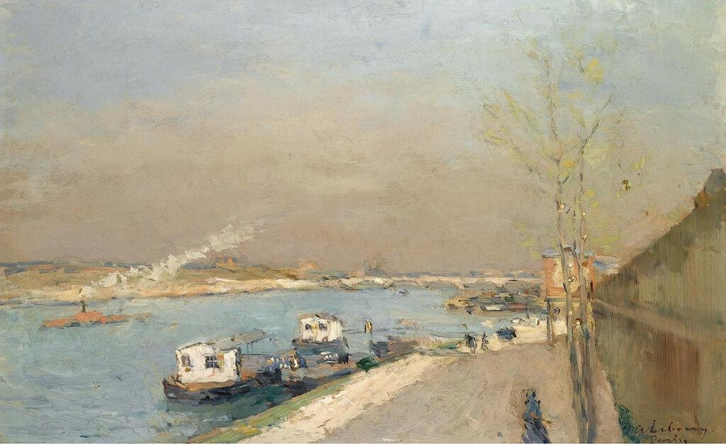 Albert Lebourg - Quay of the Seine, Spring Morning.jpeg