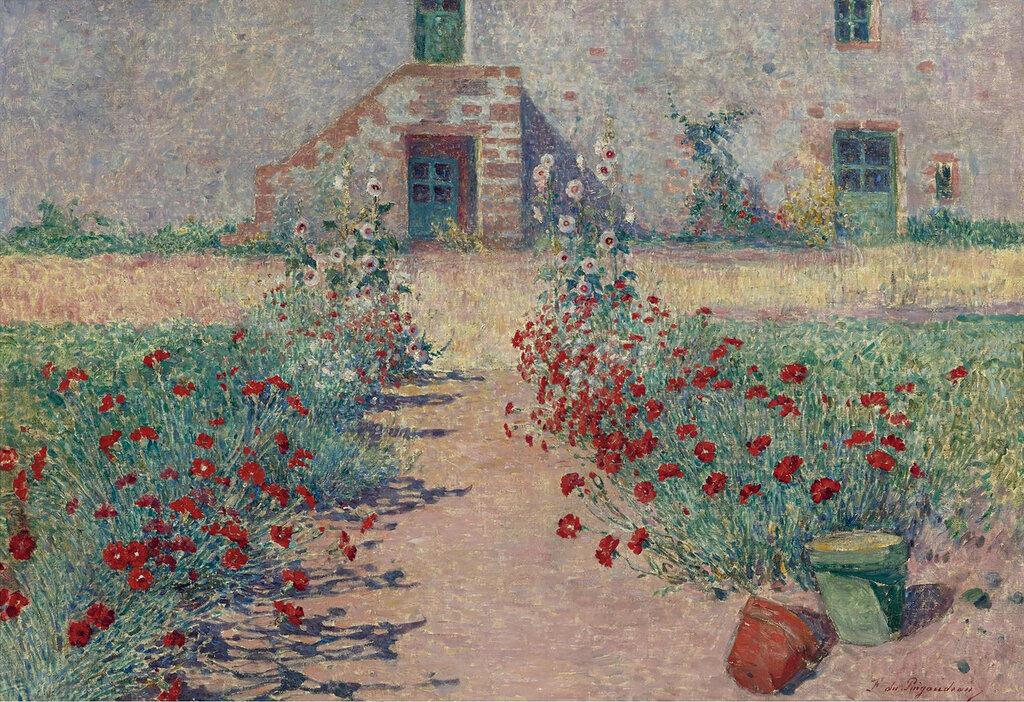 Ferdinand du Puigaudeau - Carnations Alley at Kervaudu.jpeg