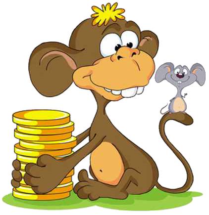Водолеи обезьяна и крыса векторный найти