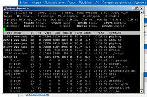 Raspberry Pi B+ загрузка процессора