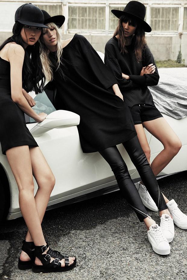 Антонина Петкович (Antonina Petkovic), Девон Виндзор (Devon Windsor) и Цзин Вэнь (Jing Wen) в рекламной фотосессии для ASH (6 фото)