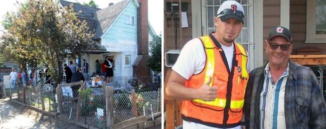 Железнодорожный инспектор Джош Сайганик услышал, как двое подростков потешаются над домом пожилого ч