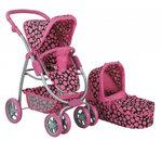 Кукольная коляска для куклы Buggy Boom 8062 горошек.jpg