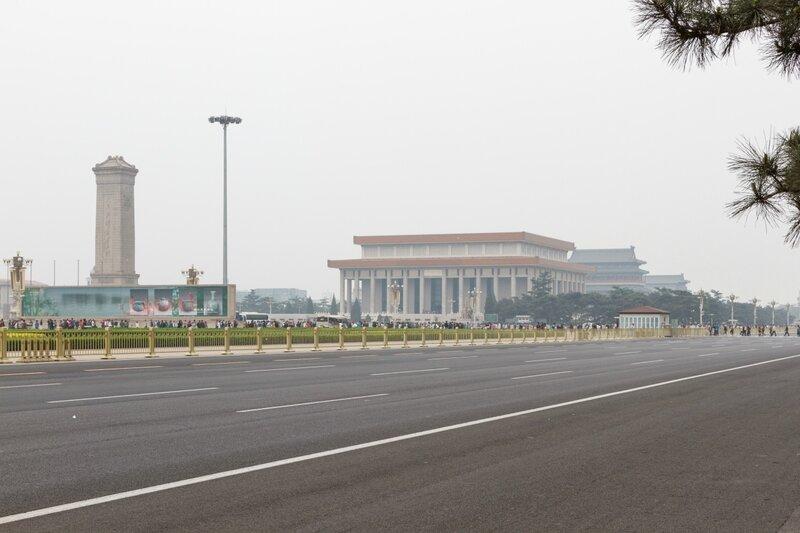 Памятник Народным Героям и мавзолей Мао Цзэдуна, площадь Тяньаньмэнь, Пекин