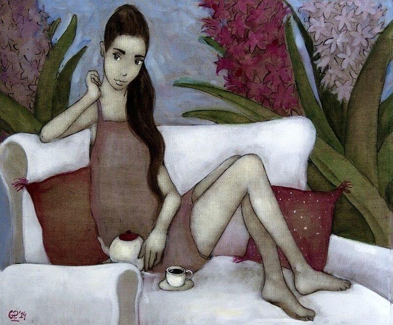 """Пей чай, улыбайся рассветам, скажи закатам: """"Привет!"""" Художник - иллюстратор Grzegorz Ptak"""