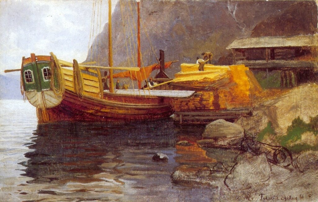 Hans Gude--En Sognejakt--1866..jpg