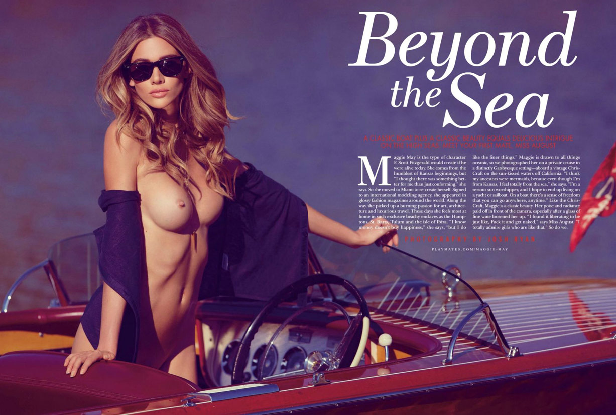 Playboy USA July-August 2014 - Maggie May - Playmate august 2014