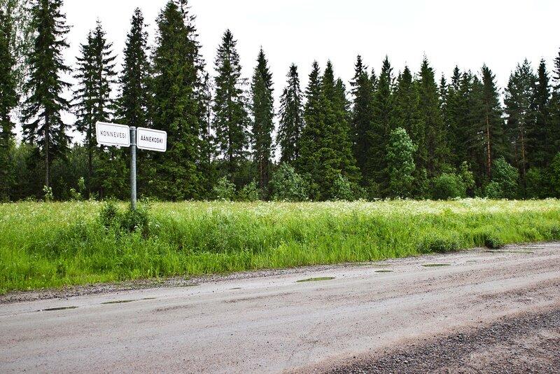граница районов Конневеси и Ээнекоски (Konnevesi и Aanekoski)