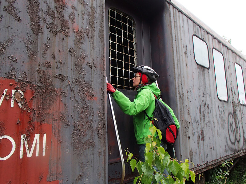 брошенный вагон на станции Суолахти (Suolahti)