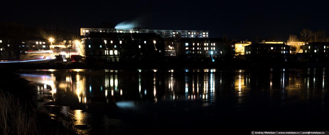 Верхние Серги ночью, фотография