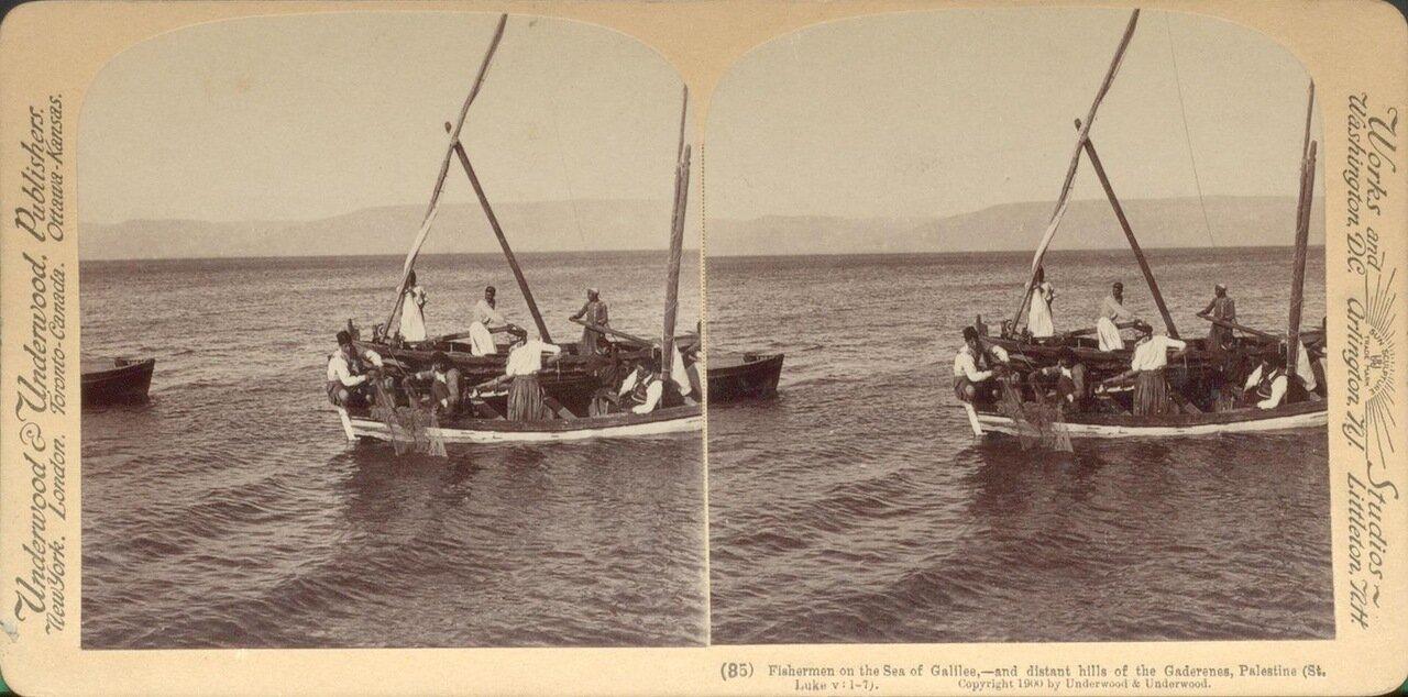 рыбаки на Кенерете. 1900