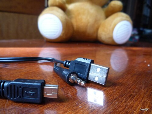 Texet TPA-3005 Winnie Bear (штекеры кабеля)